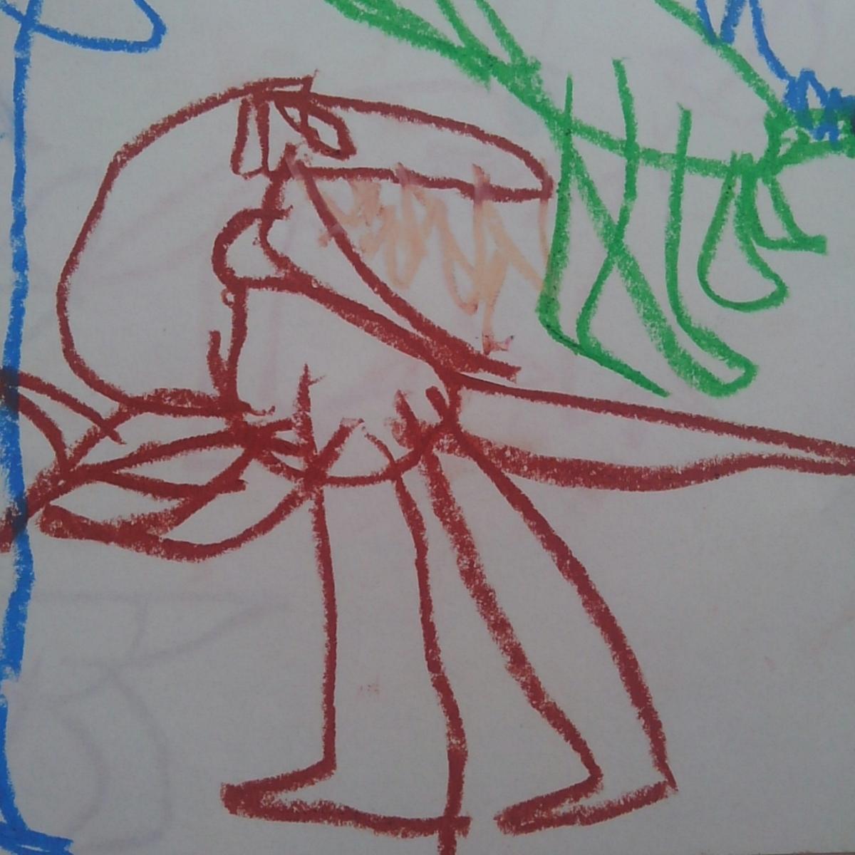 ティラノサウルス こどもの絵 恐竜