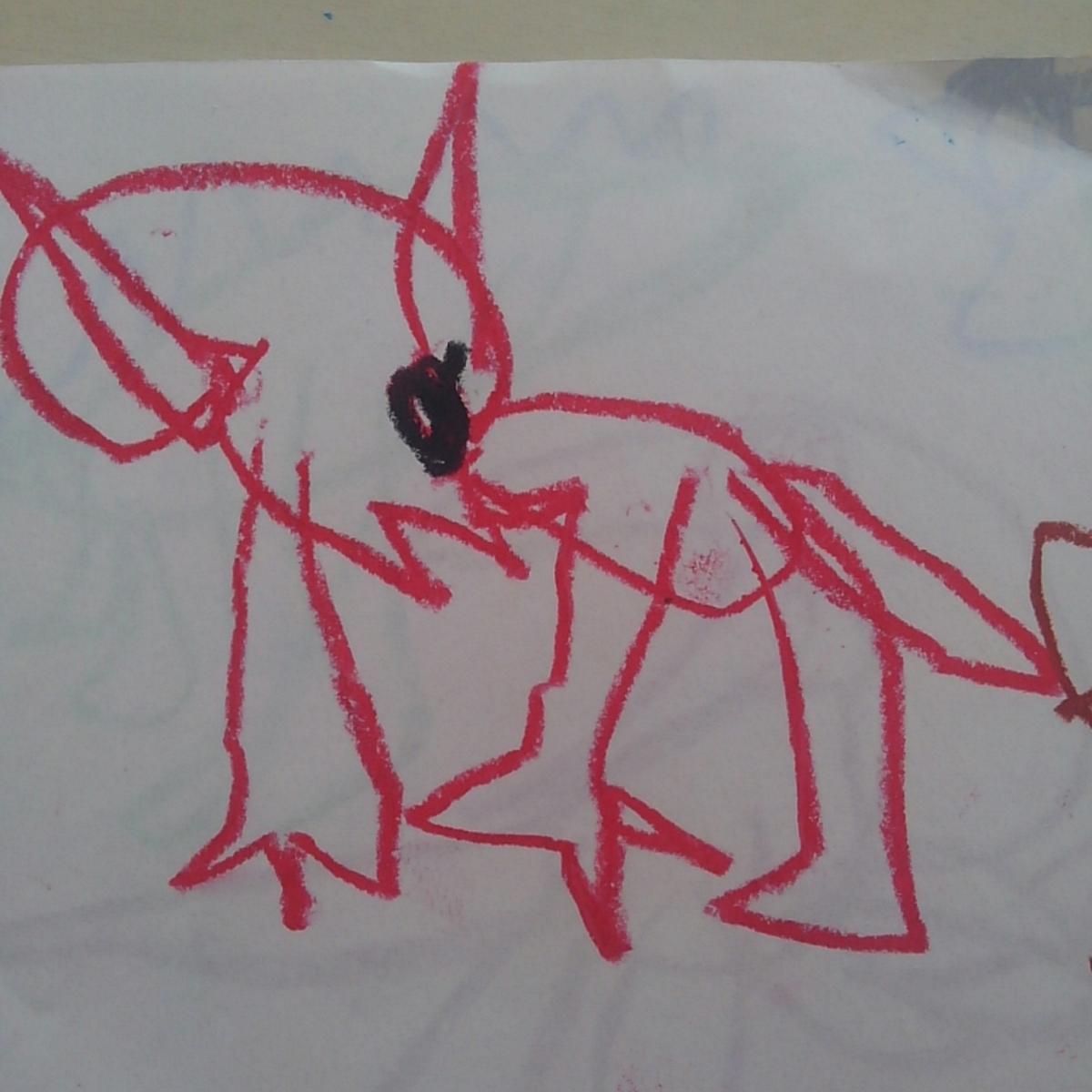 トリケラトプス こどもの絵 恐竜