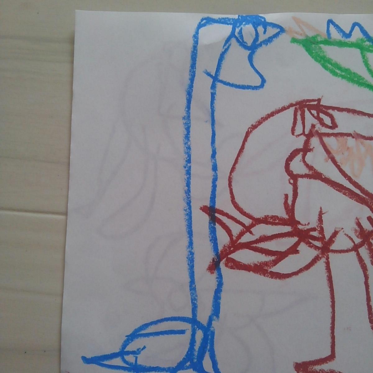 ブラキオサウルス こどもの絵 恐竜