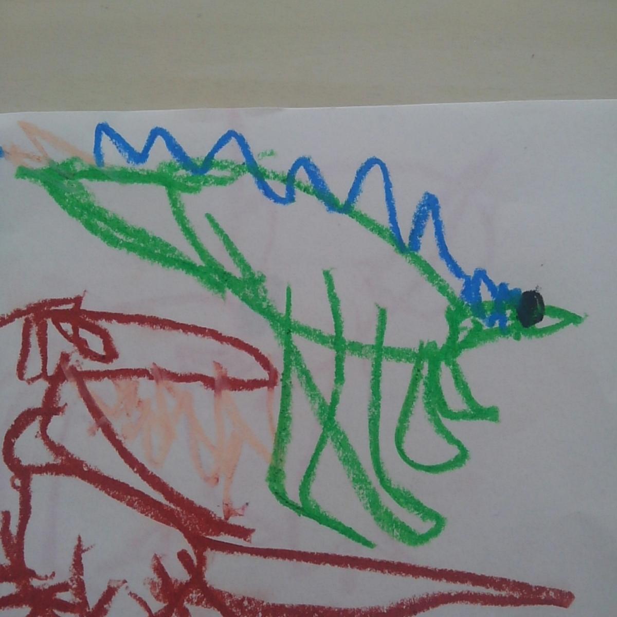ステゴサウルス こどもの絵 恐竜