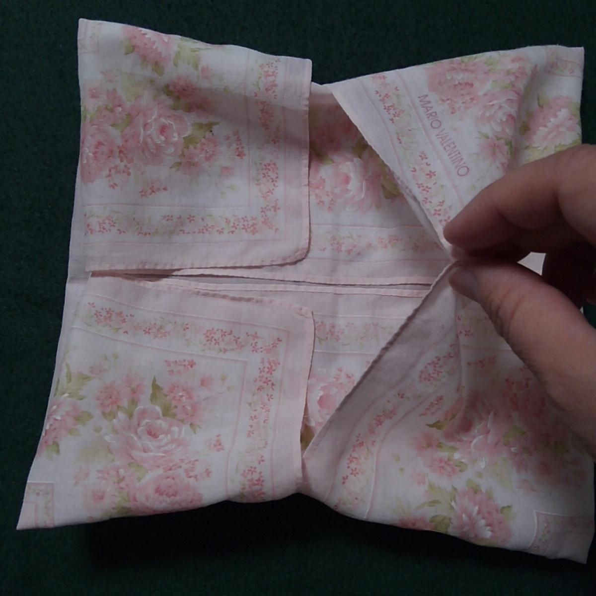ハンカチ遊び ハンカチ折り紙 ハンカチのリボン