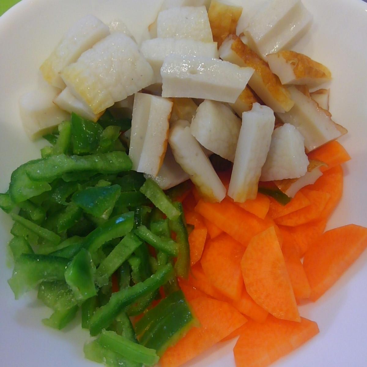 おうちコープ 豚から揚げとレンコンの黒酢たれ炒め