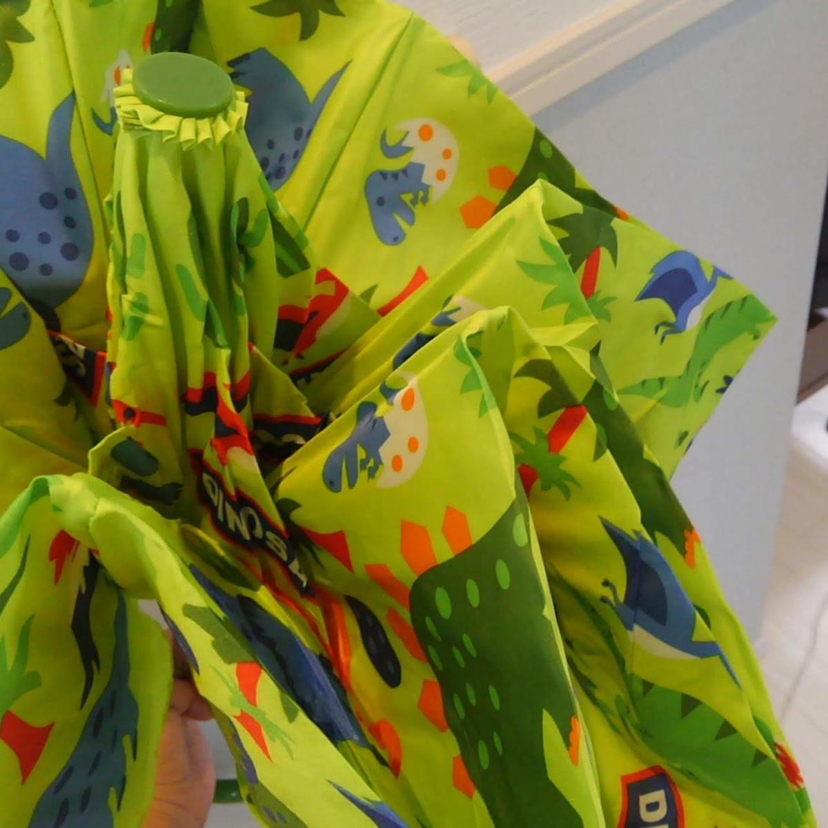 子ども用折りたたみ傘 スケーター 恐竜