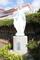 教会の玄関先にあるマリア様の像です。