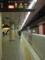 地下鉄の駅に柵ができてた