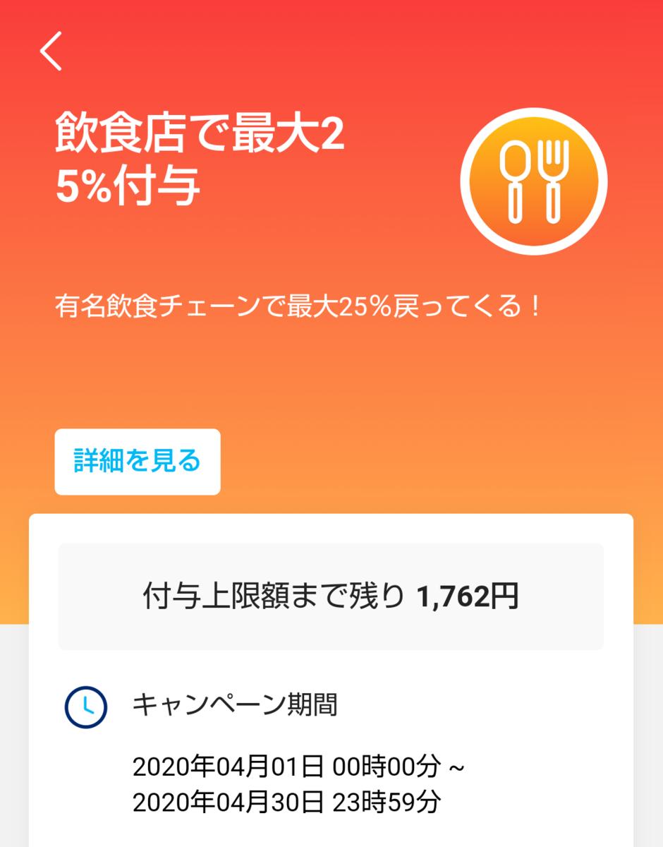 PayPayキャンペーン残り金額