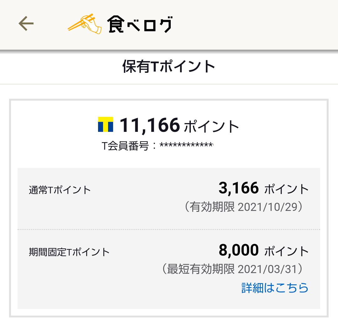 食べログ8000ポイント