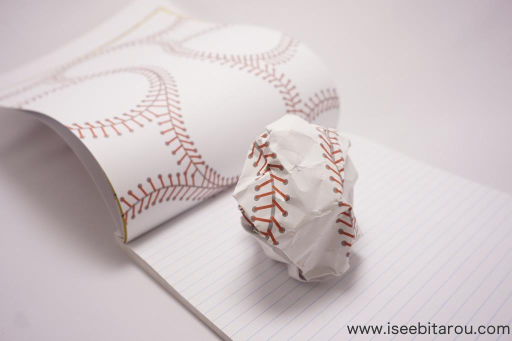 野球ボールになるノート