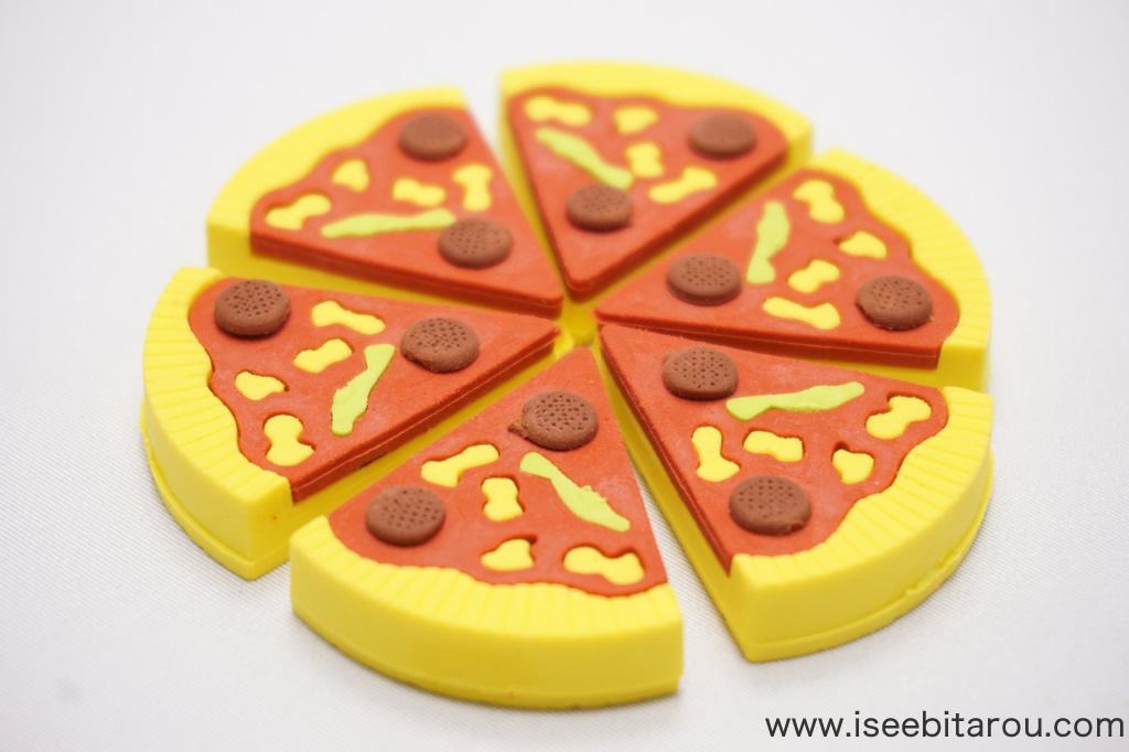 ピザ消しゴム