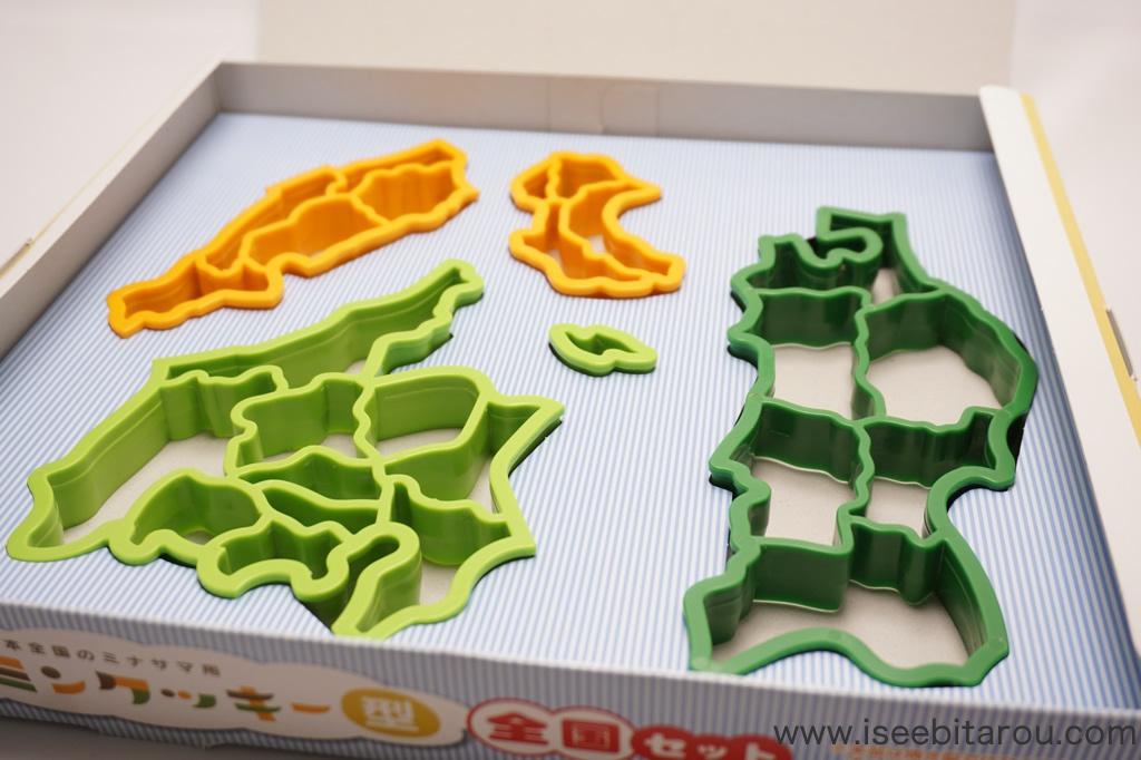 47都道府県の形をしたクッキー抜き型