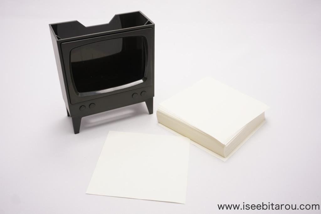 テレビメモ用紙スタンド