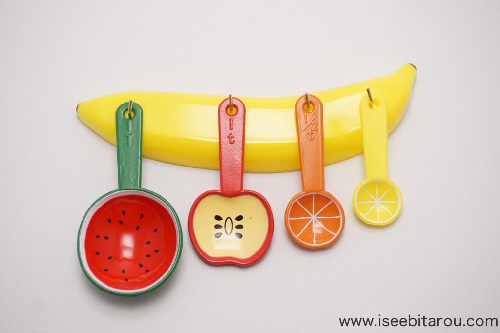 juicy fruitsのフルーツ計量スプーン 5 pc measuring spoon set が