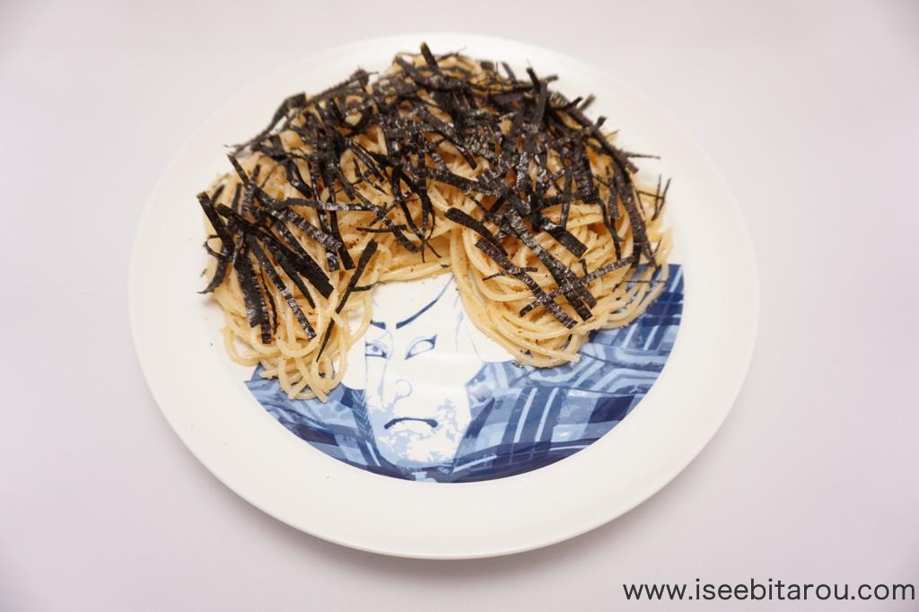 石川五右衛門の髪型をデザインするお皿