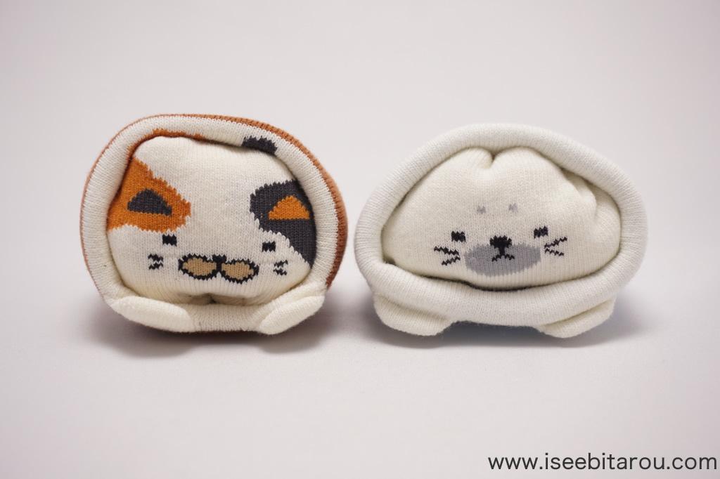 猫とアザラシの靴下