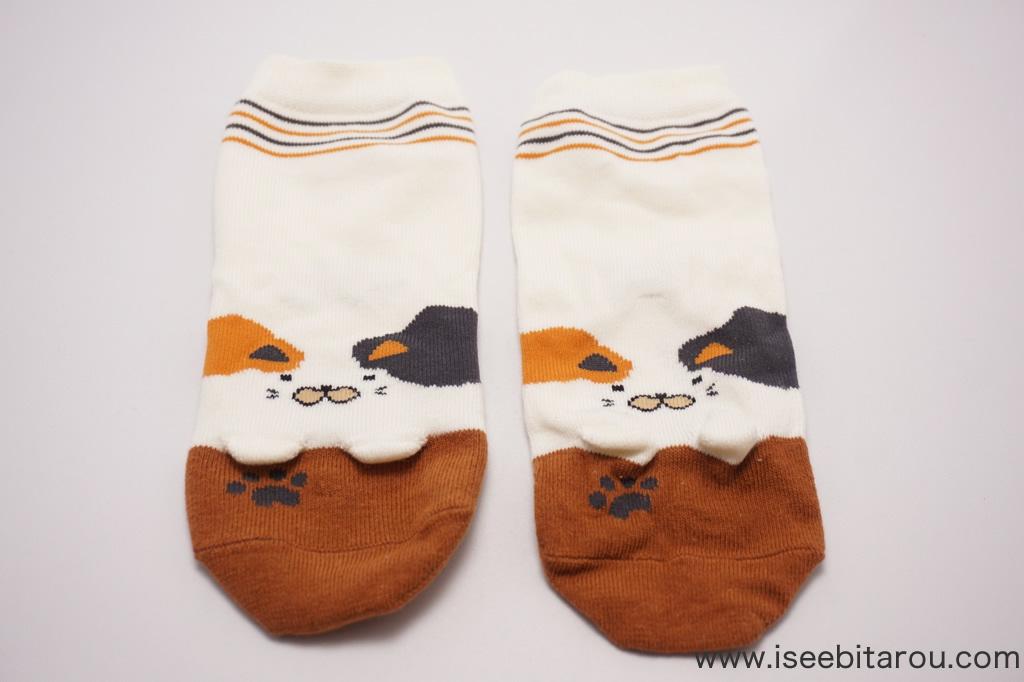 三毛猫の靴下