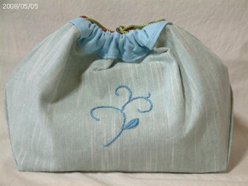 編みかけを入れる袋 B面