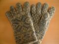 北欧の編み込みの手袋