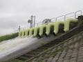 広井川救急排水ポンプ基地、排水しているポンプが1.0㎥/毎秒/1基です。