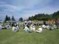 広い芝生の広場(飯山市も芝生の広場がほしいです)