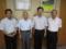 足立市長さんと 左より高山議員、石田議員、足立市長、渋川議員