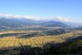 鷹落山から飯山盆地を望む