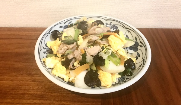 豚肉ときくらげの野菜炒め