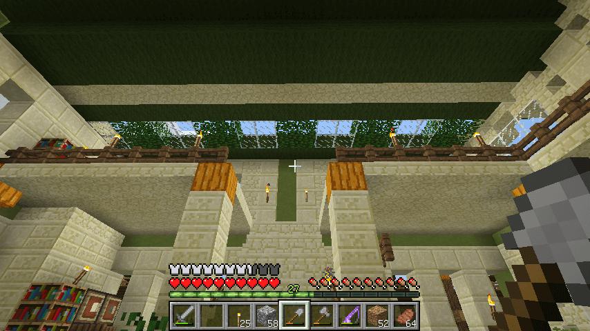 2階の天井は葉っぱブロックで明るくて涼しい