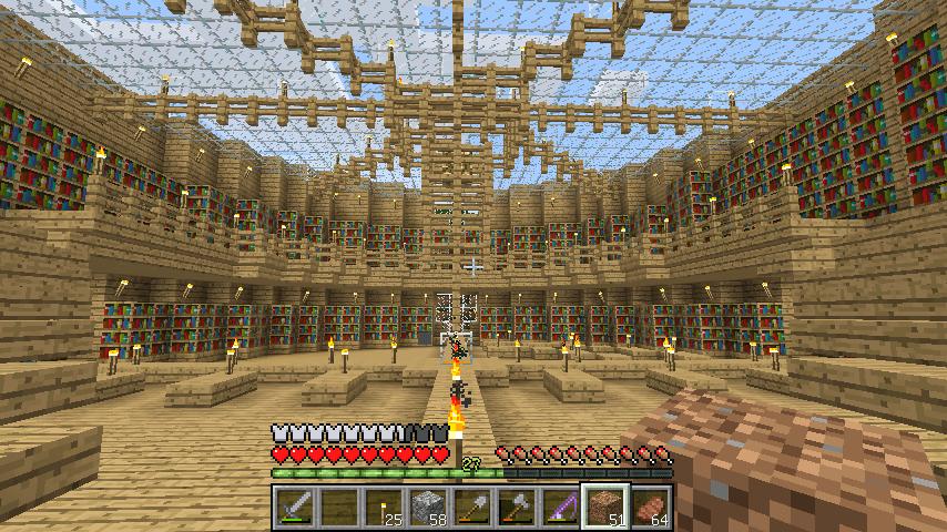 オークの木がふんだんに使われた内装