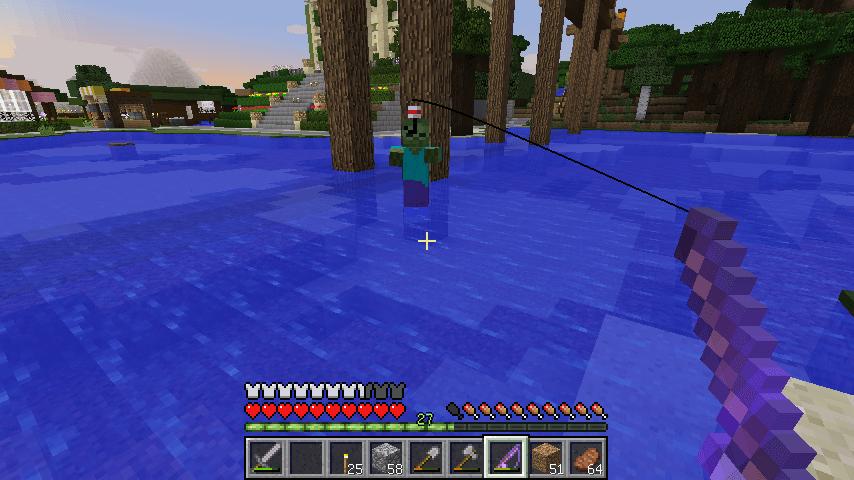 近くの川に泳いでたゾンビ