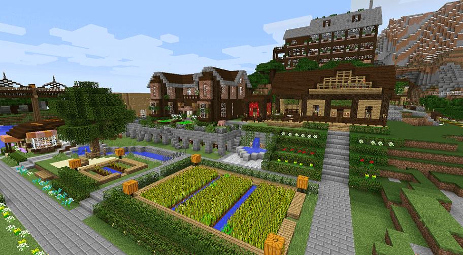 開発中の町の様子