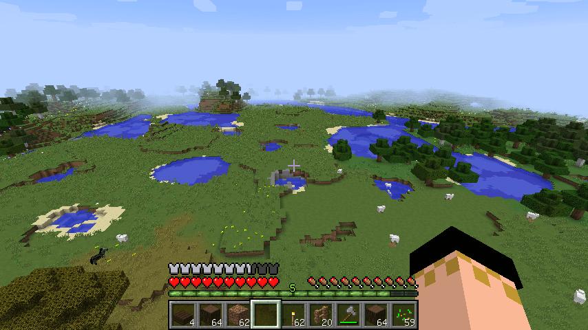 塔から見た広々とした草原