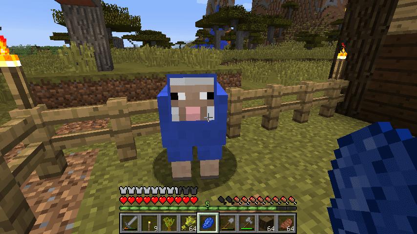 ラピスラズリで青に染まるヒツジ
