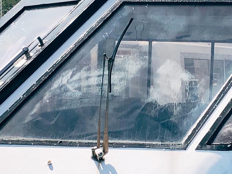 船の酸焼けガラス