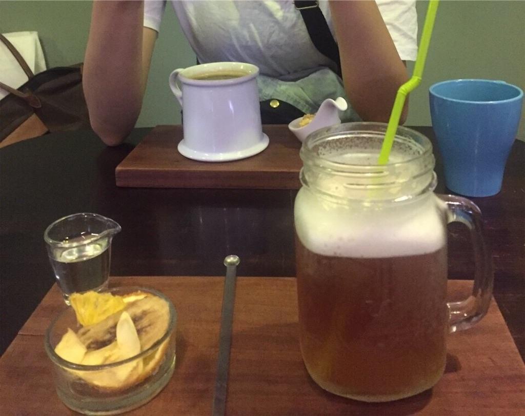 台湾カフェのお茶とコーヒー