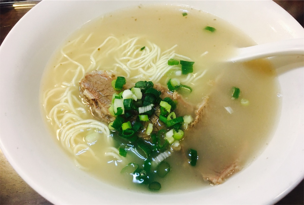 台湾で食べた牛肉麺