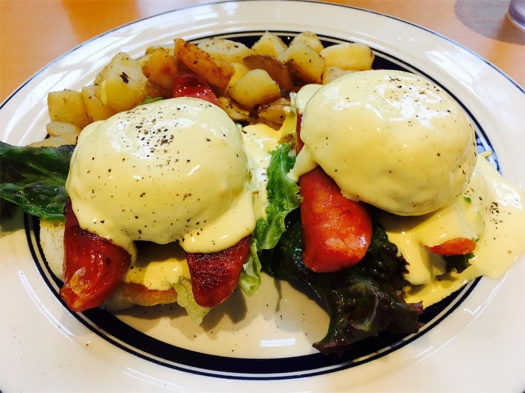 エッグスンシングスの美味しいエッグベネディクト
