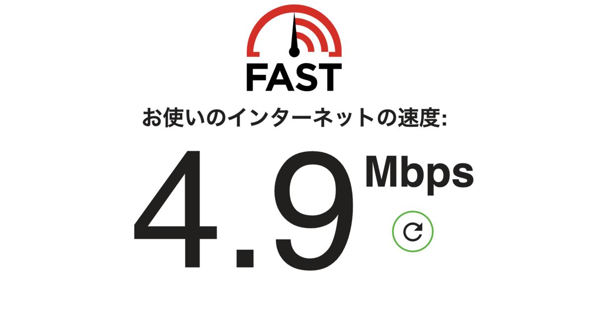 珈琲館平井店のWiFi通信速度