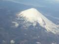 12月23日、ジェットスター成田関空便から撮影した富士山