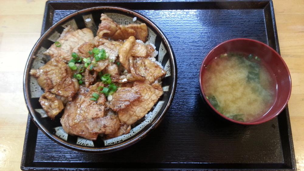 白樺の豚ロース丼の写真