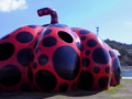 テントウ虫柄のカボチャのようなオブジェ 撮影:長戸千晶