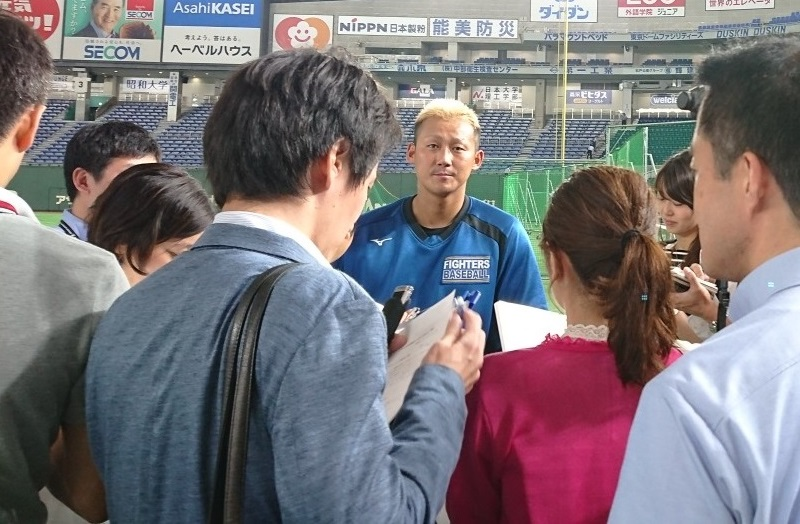 北海道日本ハムファイターズ中田翔選手インタビュー