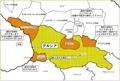 グルジア 避難勧告地図