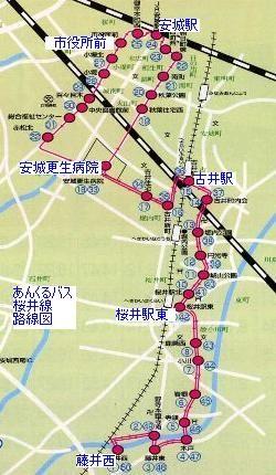 あんくるバス 桜井線 路線図