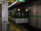 2008年 8月 21日 京阪五条駅で 出町柳いきふつう電車を とる