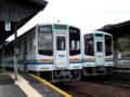 [天竜浜名湖鉄道][鉄道]天竜二俣駅で 発車まちの 車両 2両