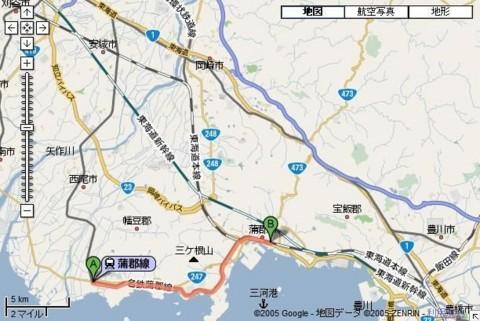 名鉄 蒲郡線 路線図