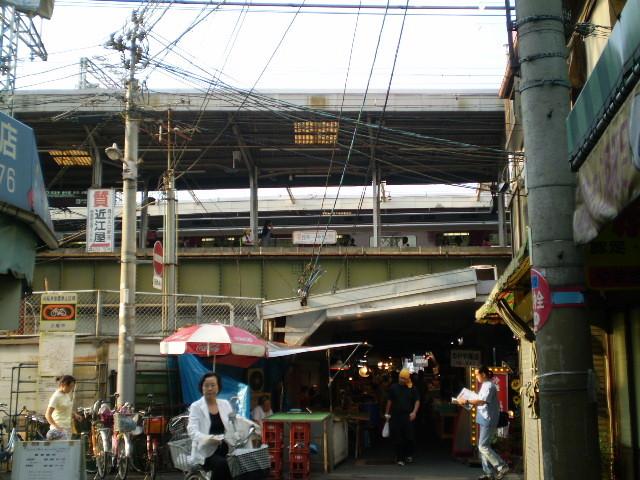 近鉄 鶴橋駅と 商店街