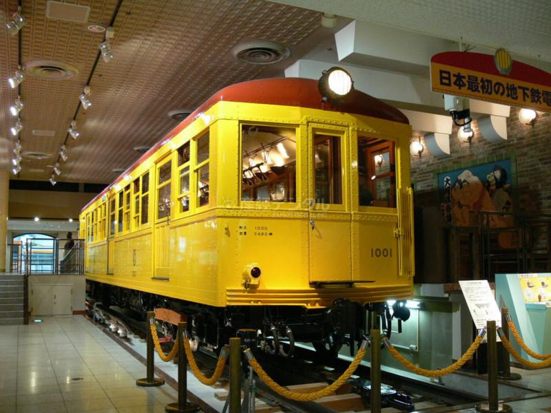 25 地下鉄博物館に展示された東京地下鉄道1000形電車