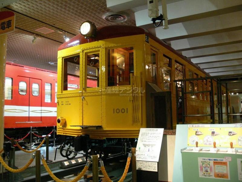 26 地下鉄博物館に展示された東京地下鉄道1000形電車