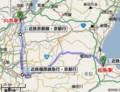 [近鉄]松阪から 向島(むかいじま)まで